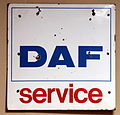 White DAF service, Enamel advert sign at the den hartog ford museum pic-032.JPG