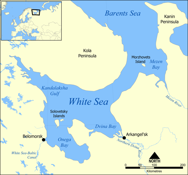 أخطر غواصة روسية تخرج الى البحر 800px-White_Sea_map