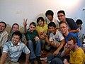 Wikimania 2007 Wikimaniacs psyched.JPG
