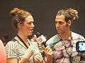 Wikimania max klein interviewing 7199419.jpg