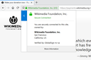 Wikimedia donation page with extended validation certificate in firefox.png