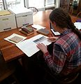 Wikipedia Project Research at the Maine Women Writers Collection, University of New England, Portland, ME.jpg