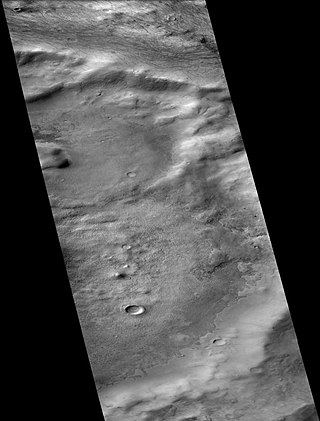 Wells (crater) crater on Mars