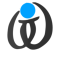 Wikt calligraphy logo bw blue.png