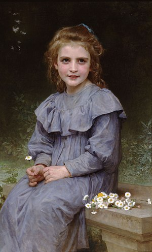 Bellis perennis - Image: William Adolphe Bouguereau (1825 1905) Daisies (1894)