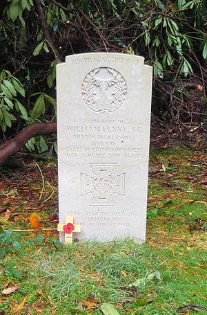 William Kenny (VC) - Kenny's grave in Brookwood Cemetery