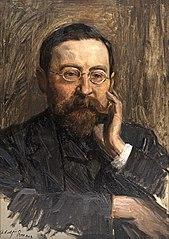 Portraitstudie Adolf Erman, Ägyptologe, Direktor des Ägyptischen Museums. Studie zu dem verschollenen Gemälde \