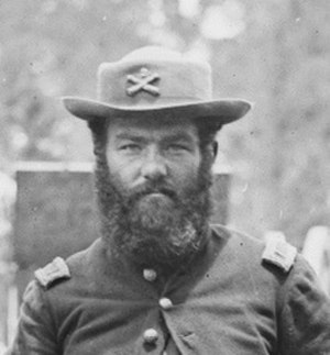 John Moulder Wilson - First Lieutenant John M.Wilson, June 1862. Detail of a photo by James F. Gibson. Library of Congress.