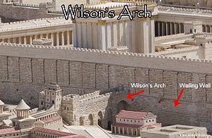 Wilson's Arch (Jerusalem) - The arch once stood a larger structure of the Temple Mount on the western side.