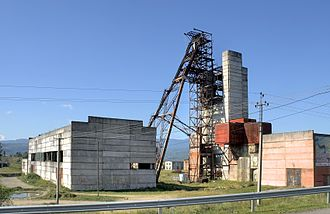 Solotvyno - Image: Winding tower in Solotvyno (5659 61)