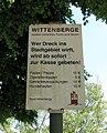 Wittenberge Schild Sauberkeit 2009-07-27 068.jpg