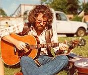 Wizz Jones, musician, at Norwich Folk Festival, U.K., 1978