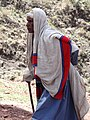 Woman Worshipper at Bet Giyorgis Rock-Hewn Church - Lalibela - Ethiopia (8730947311).jpg