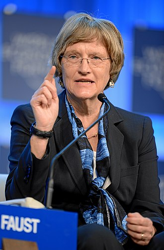Drew Gilpin Faust - Faust, speaking at the World Economic Forum in 2013