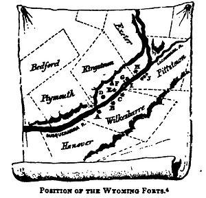 Lime Ridge, Pennsylvania - Image: Wyoming Forts