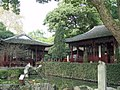 Xiling Seal Society - pool and old buildings.JPG