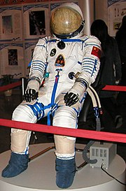 The space suit worn by Shenzhou 5 astronaut Yang Liwei. China was the third nation to launch a person into orbit.