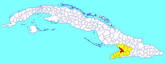 Yara, Cuba - Image: Yara (Cuban municipal map)