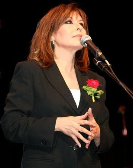 Singer Yardena Arazi, who started her career in the Lehakot Tsva'iyot. Yardena Arazi.jpg