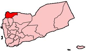 Saada Governorate - Location of Sa'dah in Yemen