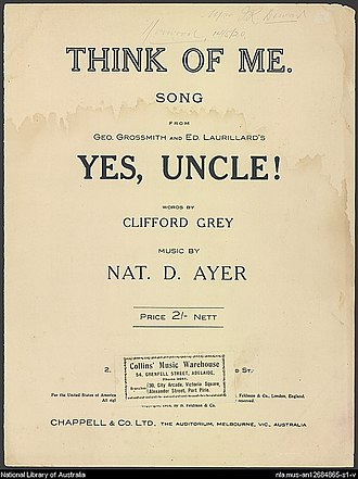 Yes, Uncle! - Sheet music cover