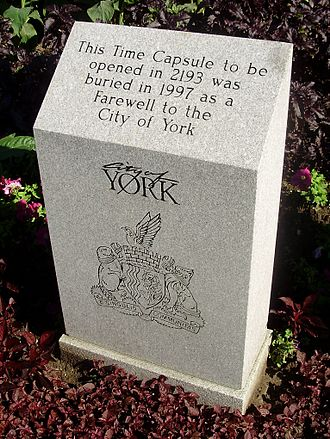 York Civic Centre - This time capsule is intended to be sealed for one hundred and ninety-six years.