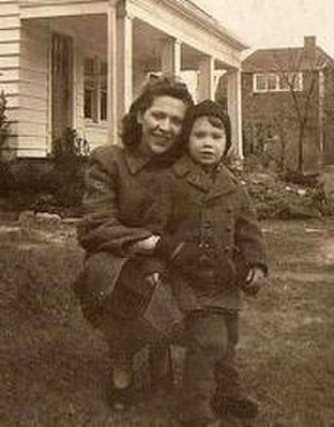John Fahey (musician) - Fahey and his mother, Takoma Park, Maryland, 1945