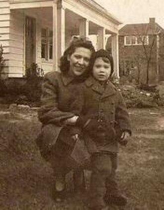 John Fahey (musician) - Fahey and his mother, Takoma Park, Maryland, 1945