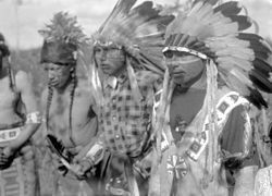 Young Men in ceremonial dress - Waterhen River, Northern Saskatchewan (20373084295).jpg