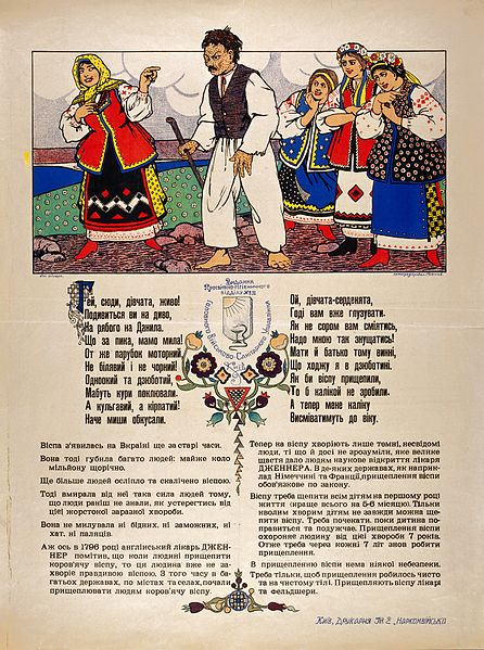 File:Young women in the Ukraine teasing a boy who is pockmarked a Wellcome L0032776.jpg