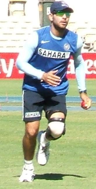 Yuvraj Singh - Yuvraj during fielding practice.
