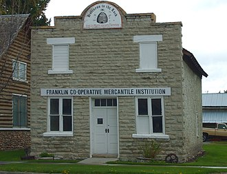 National Register of Historic Places listings in Franklin County, Idaho - Image: ZCMI Franklin Idaho