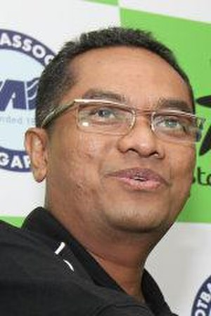 Zainudin Nordin - Zainudin Nordin, in his capacity as President of the Football Association of Singapore, marking StarHub's appointment as official broadcaster and principal sponsor of the LionsXII in 2012