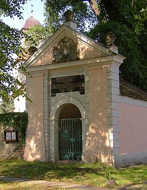 Michael Gabriel Fredersdorf - Fredersdorf's grave chapel at Zernikow