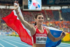 Zuzana Hejnová - Zuzana Hejnová after her win at the 2013 World Championships in Athletics