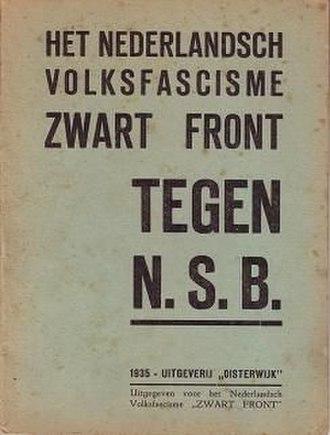 Black Front (Netherlands) - Het Nederlandsch Volksfascisme Zwart Front tegen NSB