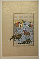 """Bahram Gur Slays the Rhino-Wolf"", Folio 586r from the Shahnama (Book of Kings) of Shah Tahmasp MET sf1970-301-65.jpg"