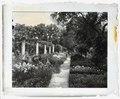 """Chatham,"" Colonel Daniel Bradford Devore house, 120 Chatham Lane, Fredericksburg, Stafford County, Virginia. East flower garden pergola LCCN2008679206.tif"
