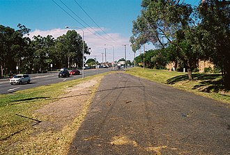 Eight Mile Plains, Queensland - Former and current alignment of Logan Road, 2013