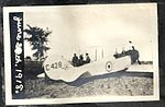 """June 2(?)th. 1918."" Photograph of Curtiss JN-4 aircraft C428 on the ground, possibly taken at Camp Rathbun, one of the Royal Flying Corps' pilot training camps at Deseronto. (8514008944).jpg"