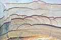 """Liesegang banding"" in sandstone (Vinton Member, Logan Formation, Lower Mississippian; Mohawk Dam roadcut, northwest of Nellie, Ohio, USA) 4 (32335182794).jpg"