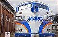 'MARC No. 7100' -- B & O Railroad Museum Baltimore (MD) July 2013 (9277873393).jpg
