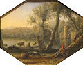 'Pastoral Landscape', oil on copper painting by Claude Lorrain, c. 1636-7, Art Gallery of New South Wales.JPG
