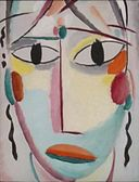 'Savior's Faces, Number 10, Last Look' by Alexei Jawlensky, 1919, Long Beach Museum of Art
