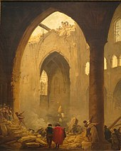 'The Destruction of a Church' by Hubert Robert, 1787, Pushkin Museum.JPG