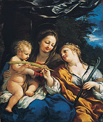 Madonna and Child with Saint Martina