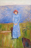 'Woman in Blue against Blue Water' by Edvard Munch, 1891.JPG