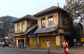 Ghatkopar - A dilapidated structure is still seen near the railway station.