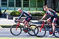 (L-R) Marko Krump and Filippo Ganna of UAE Team Emirates before the start of Stage 1 in Sacramento (34865835631).jpg