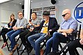 (L to R) IGN's Laura Prudom, Dan Jurgens, Jim Lee, Frank Miller, Brian Michael Bendis at SXSW 2018.jpg
